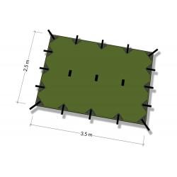 Płachta biwakowa DD Hammocks Tarp M 3,5x2,4 - Olive Green