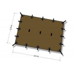 Płachta biwakowa DD Hammocks Tarp M 3,5x2,4 - Coyote Brown