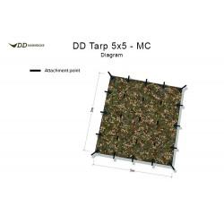 Płachta biwakowa DD Hammocks Tarp 5x5 - Multicam