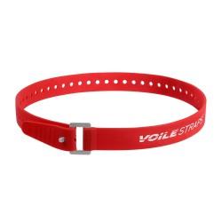 """Pasek mocujący Voile z klamrą alu - Voile-USA Czerwony 32"""" XL Series"""