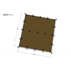Płachta biwakowa DD Hammocks Tarp 3x3 - Coyote Brown