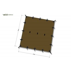 Płachta biwakowa DD Hammocks Tarp 4x4 - Coyote Brown
