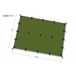 Płachta biwakowa DD Hammocks Tarp XL 4,5x3 - Olive Green
