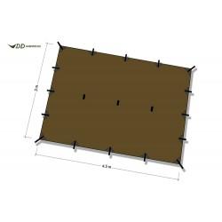 Płachta biwakowa DD Hammocks Tarp XL 4,5x3 - Coyote Brown