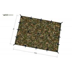 Płachta biwakowa DD Hammocks Tarp XL 4,5x3 - Multicam
