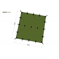 Płachta biwakowa DD Hammocks Tarp 3,5x3,5 - Olive Green