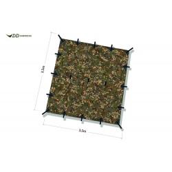 Płachta biwakowa DD Hammocks Tarp 3,5x3,5 - Multicam