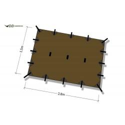 Płachta biwakowa DD Hammocks Tarp S 2,8x1,5 - Coyote Brown