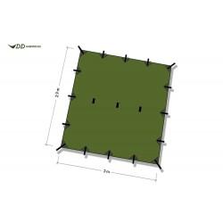 Płachta biwakowa DD Hammocks Tarp SUPERLIGHT - Olive Green