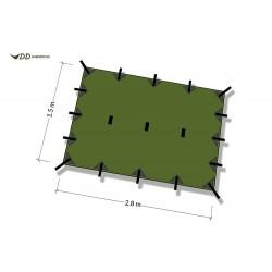 Płachta biwakowa DD Hammocks Tarp SUPERLIGHT S - Olive Green