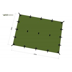 Płachta biwakowa DD Hammocks Tarp SUPERLIGHT XL - Olive Green