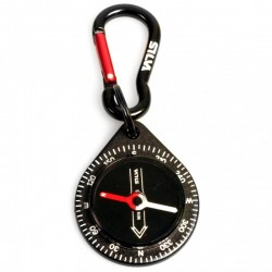 Silva - Brelok z kompasem 9 Black Carabiner