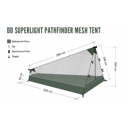 Moskitiera DD Hammocks SuperLight - Pathfinder Mesh Tent